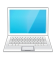 Isolated White Laptop vector image