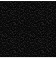 Leather black seamless texture vector image