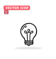light bulb icon white background ima vector image vector image