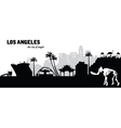 Los Angeles skyline vector image