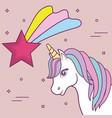 magical unicorns design vector image