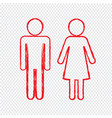 man and lady people icon design vector image vector image