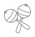 maraca instrument brazilian music percussion vector image vector image