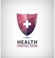 medical logo health protection shield vector image vector image