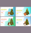 merry christmas happy new year web pages online vector image vector image