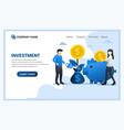 modern flat web page design concept money vector image vector image
