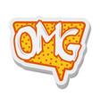 omg speech bubble comic sticker cartoon design vector image