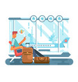 passenger waiting at airport of departure vector image