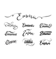 Personal name tattoo Emma vector image vector image