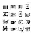 QR code and Bar code icons set Scan coding vector image