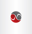 red black circle infinity symbol vector image