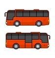 Red Bus Template Set on White Background vector image vector image