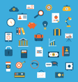 set flat icons of web design objects business vector image vector image