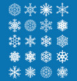 set of different white snowflakes vector image vector image