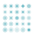 set ornamental snowflakes vector image vector image