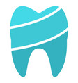 shiny tooth logo icon flat style vector image