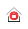 simple locked house icon vector image vector image