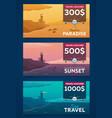 travel voucher sea travel summer time sea vector image