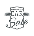Vintage classic car sale label template vector image vector image