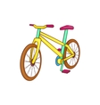Yellow bike icon cartoon style vector image vector image