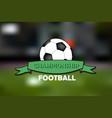 logo football championship vector image