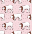 Sketch polar bear vector image