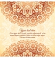 Vintage background in Indian mehndi style vector image