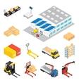 Warehouse Isometric Icon Set vector image