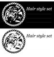 hair style logo vector image