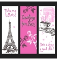 Paris Vertical Banner Set vector image