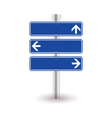blue direction sign vector image