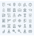 Line Lawyer Attorney and Crime Icons Set vector image