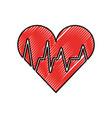 medical heart beat cardiology diagnosis vector image
