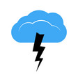 a cloud with a thunderstorm vector image vector image