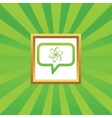 Atom message picture icon vector image vector image