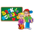back to school thematic image 4 vector image vector image