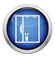 Bathroom mirror icon vector image vector image
