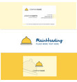 beautiful food dish logo and business card vector image vector image