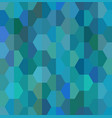 blue hexagon mosaic pattern vector image
