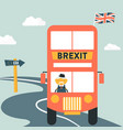 brexit concept united kingdom leaving eu vector image