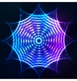 Bright shining blue neon circle at dark cosmic vector image vector image