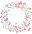 Butterfly frame wreath design element in pink and vector image vector image