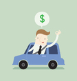 Car for cash vector image vector image