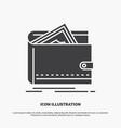cash finance money personal purse icon glyph gray vector image vector image