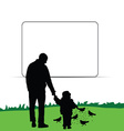 child with father in nature vector image vector image