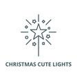 christmas cute lights line icon christmas vector image