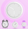 Clock alarm watch vector image