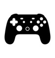 cloud gaming video game controller icon vector image