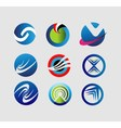 Collection round logo symbol vector image vector image