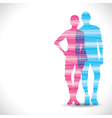 color couple design with strip vector image vector image